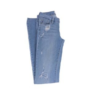 Bullhead Bootcut Long Distressed Jeans, Size 3